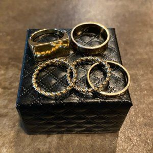 Nordstrom's BP Gold Rings Bands Fashion Jewlery